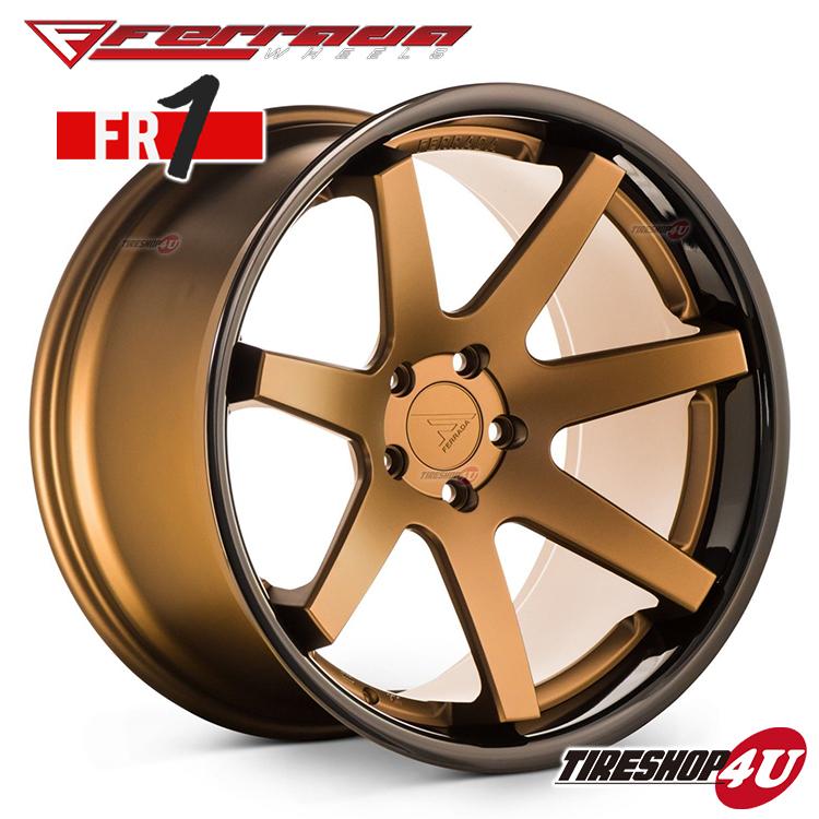 20インチBMW 5シリーズ(E60/E61) FERRADA WHEELS FR1 20×9.0J ET20&10.5J ET20 マットブロンズ/ブラックリップ当社指定輸入タイヤ or NANKANG 245/30R20 & 255/30R20 新品タイヤホイールセット4本価格 JWL規格適合品