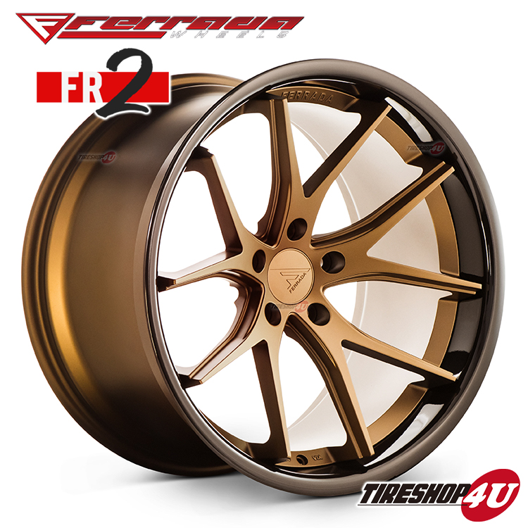 20インチ Ferrada wheels FR2 20×10.5JPCD:5/108・5/112・5/114.3・5/150・5/120 color:マットブロンズ/SS グロスブロンズリップ 新品アルミホイール単品1本価格 フェラーダホイールズ コンケーブ