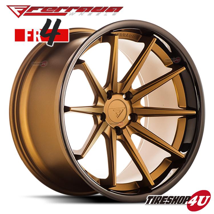 22インチ Ferrada wheels FR4 22×10.5JPCD:5/112・5/114.3・5/120 color:マットブロンズ/SS グロスブロンズリップ 新品アルミホイール単品1本価格 フェラーダホイールズ コンケーブ