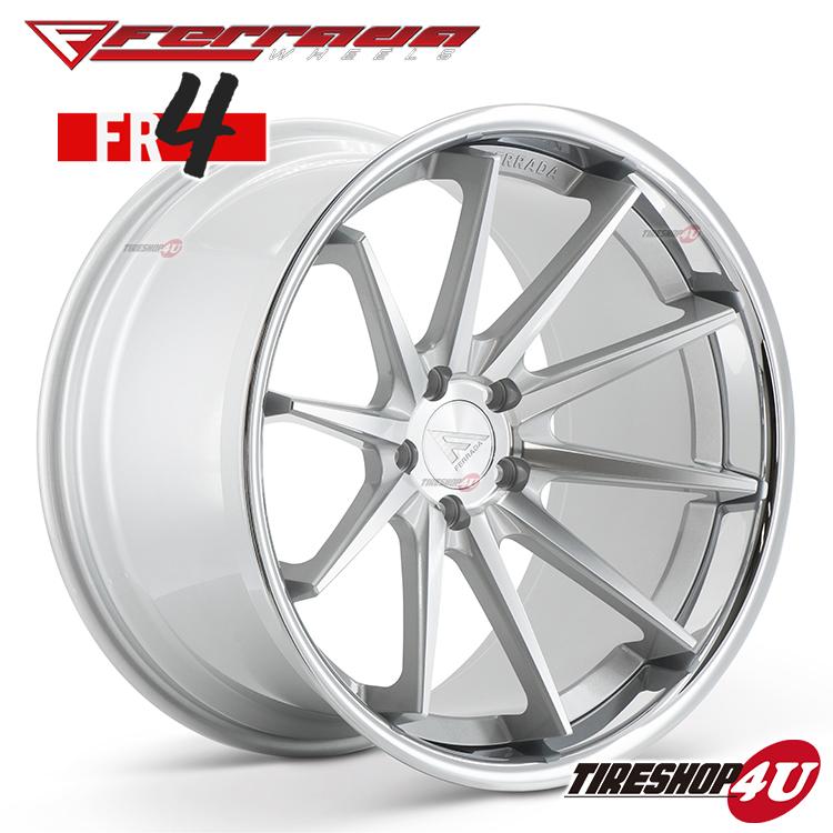 22インチ Ferrada wheels FR4 22×10.5JPCD:5/112・5/114.3・5/120 color:マシンシルバー/SS クロームリップ 新品アルミホイール単品1本価格 フェラーダホイールズ コンケーブ