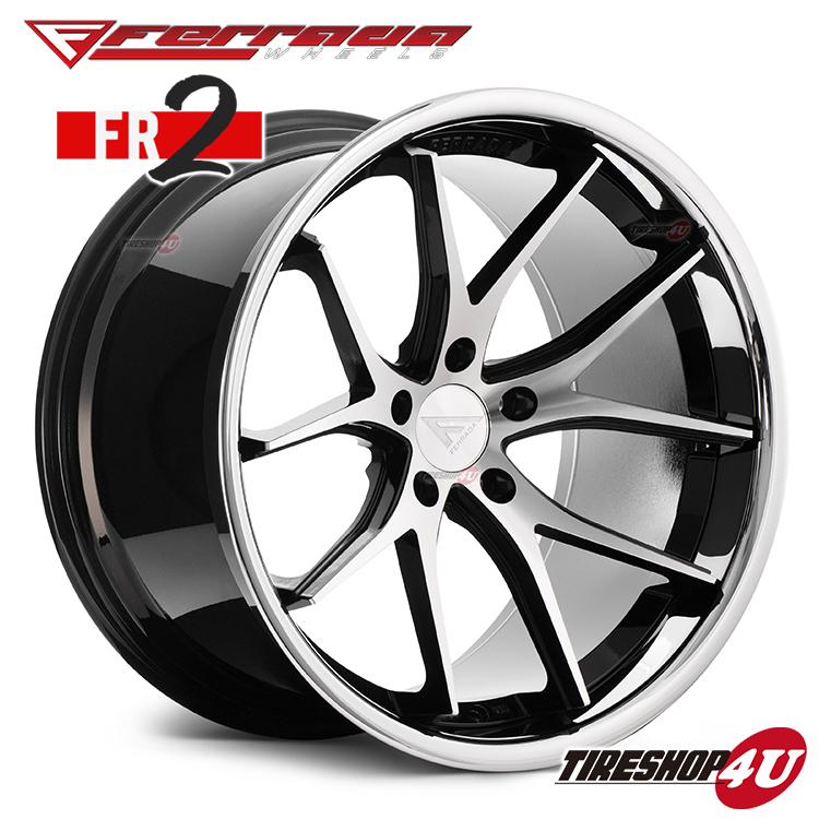 22インチ Ferrada wheels FR2 22×9.0JPCD:5/112・5/114.3・5/120 color:マシンブラック/SS クロームリップ 新品アルミホイール単品1本価格 フェラーダホイールズ コンケーブ