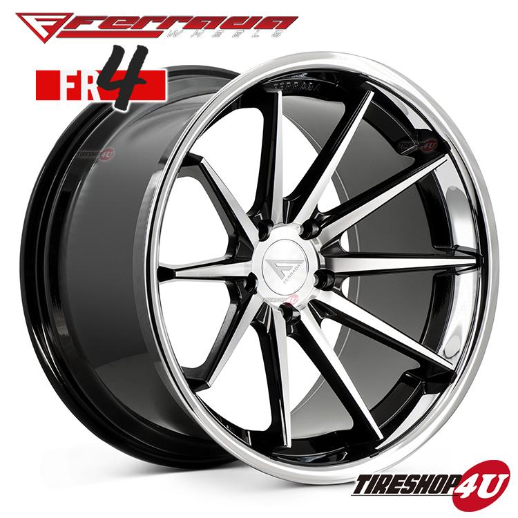 【SS期間限定 ポイント最大43倍】19インチ Ferrada wheels FR4 19×8.5JPCD:5/112・5/114.3・5/120 color:マシンブラック/SS クロームリップ 新品アルミホイール単品1本価格 フェラーダホイールズ コンケーブ