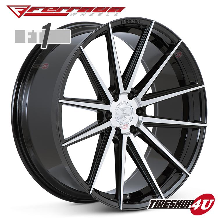 24インチ Ferrada wheels FT1 24×10.0JPCD:6/139.7・6/135 color:マシンブラック 新品アルミホイール単品1本価格 フェラーダホイールズ コンケーブ