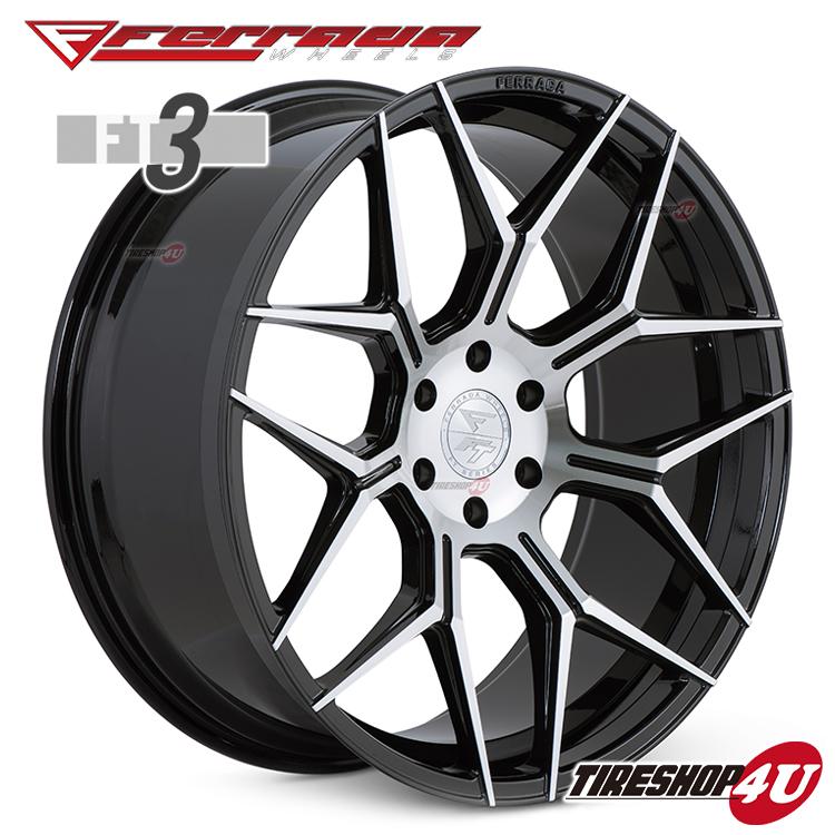 24インチ Ferrada wheels FT3 24×10.0JPCD:6/139.7・6/135 color:マシンブラック 新品アルミホイール単品1本価格 フェラーダホイールズ コンケーブ