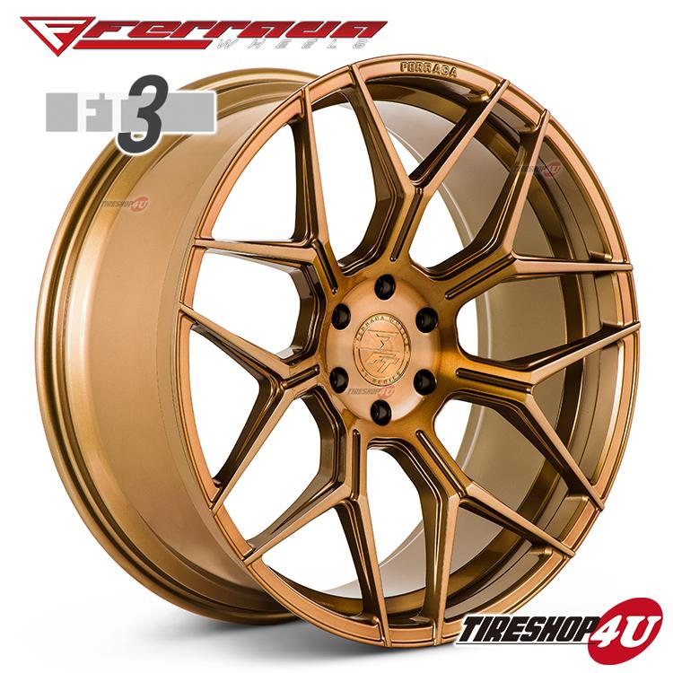 24インチ Ferrada wheels FT3 24×10.0JPCD:6/139.7・6/135 color:ブラッシュドコブラ 新品アルミホイール単品1本価格 フェラーダホイールズ コンケーブ