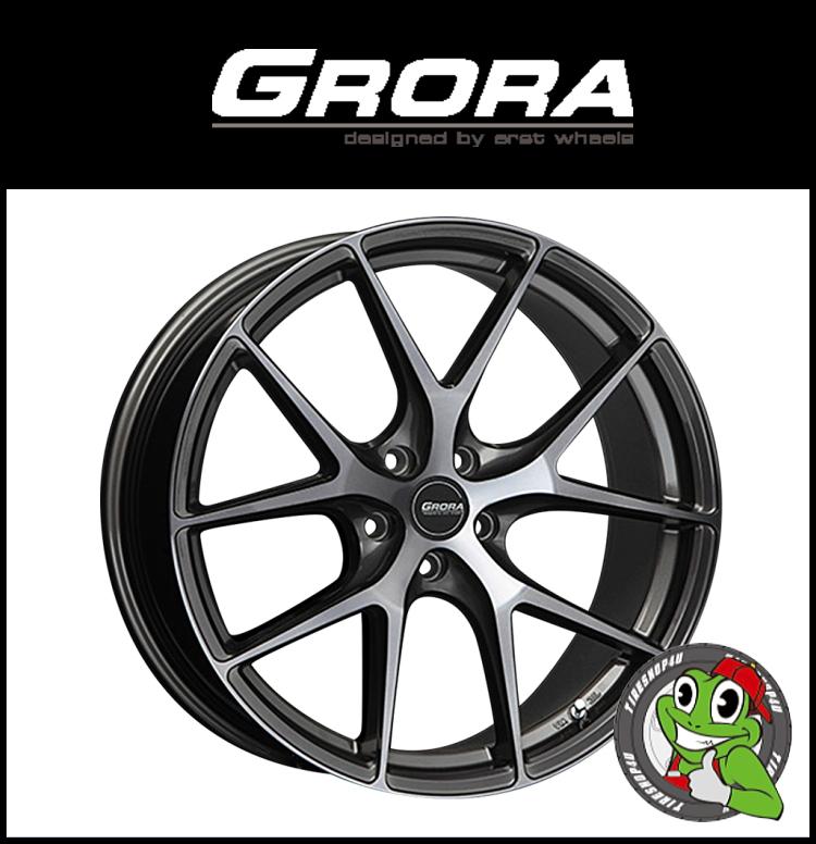 20インチERST GRORA GS15V 20×9.0J 5/112 +40スモーククリア エアスト グローラ GS15V Audi/VW/メルセデスベンツ 新品アルミホイール1本価格 1台分購入でハブリング付属