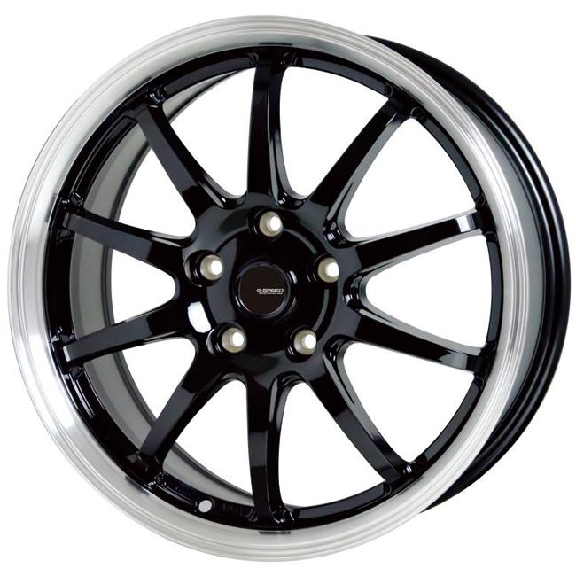 17インチ G.speed P-04 17×7.0J 5/114.3 +48 メタリックブラック&リムポリッシュ ジースピード Gスピード P04 新品アルミホイール1本価格