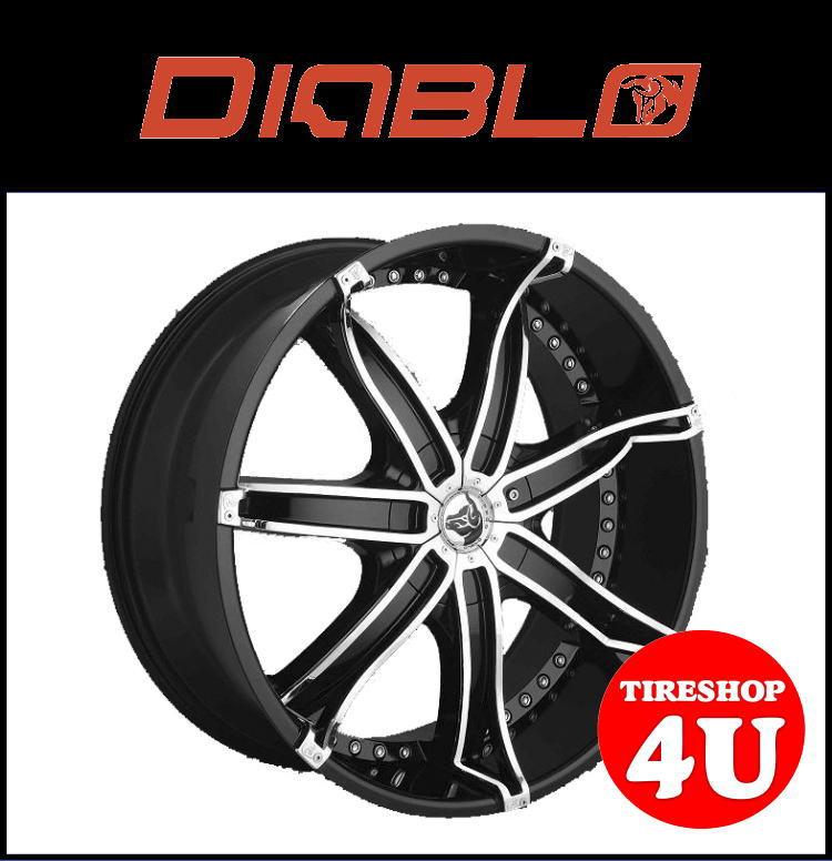 22インチDIABLO(ディアブロ) DNA(ディーエヌエー) 22×9.5J プラチナムブラック/クロームインサートシボレー トレイルブレイザー 新品タイヤホイール4本セット価格