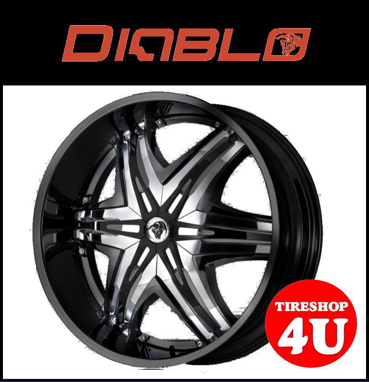 26インチDIABLO(ディアブロ) ELITE(エリート) 26×10.0J ブラック/クロームメッキインサートランクル100 ランクル200 シグナス セコイア タンドラ 新品タイヤホイール4本セット価格