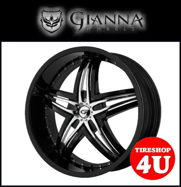 22インチGIANNA(ジアンナ) BLITZ(ブリッツ) 22×9.5J ブラック/クロームメッキシボレー トレイルブレイザー タイヤホイール4本セット価格