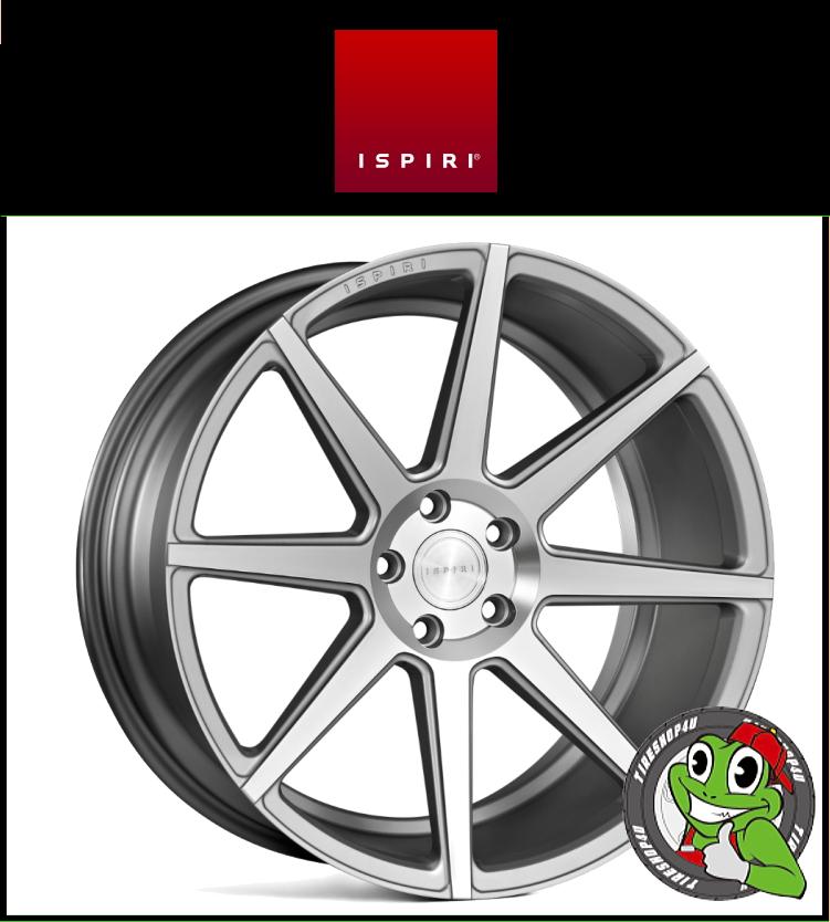 19インチIspiri Wheel ISR8 19×9.5J 5/120 +43 HUB:72.56φ/74.1φSatin Silver Machined(サテンシルバーマシン) 1995 イスピリホイール 新品アルミホイール1本価格 正規輸入品JWL適合品 スタンス BMW E90/91/92/F30/F31