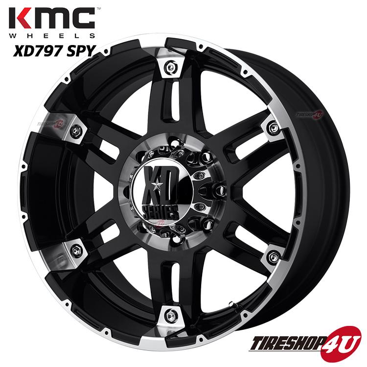 17インチKMC XD797 SPY ブラックマシンドTOYO オープンカントリーM/T 265/70R17 FJクルーザー 6穴 139.7 タイヤ付4本SET