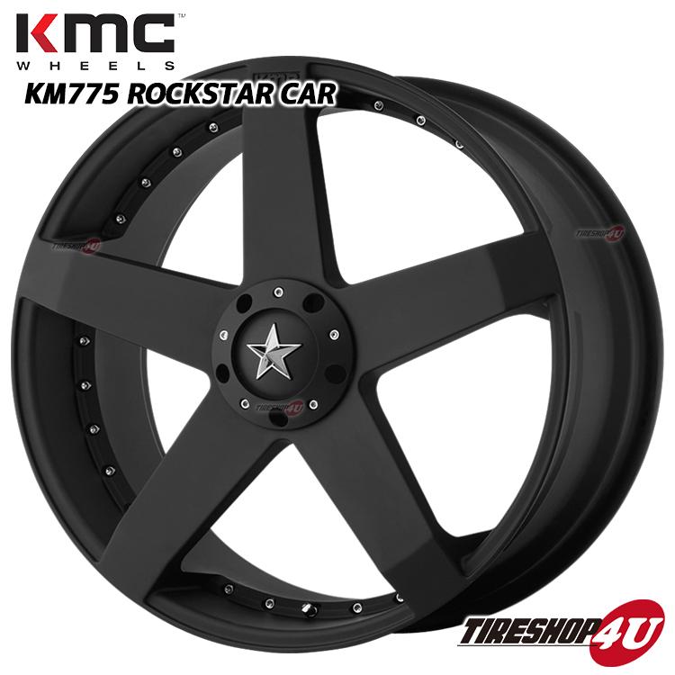 20インチKMC KM775 ROCKSTAR CAR 18×8.0J 5/114.3&120 +42MATTE BLACK KMC ロックスター ジューク アウトランダー ミニクロスオーバー エクストレイル デリカ D;5 新品アルミホイール1本価格