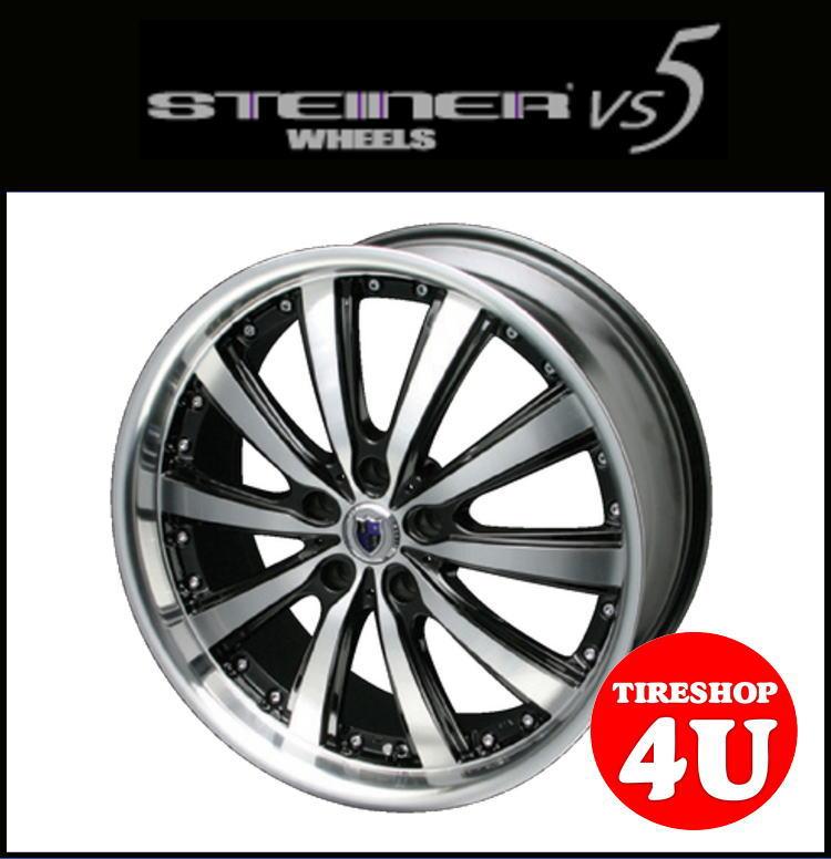 Steiner VS5 シュタイナー ブイエスファイブ ブラック×ポリッシュ 16インチ 4穴 16X5.0 1650 4/100 +45 Kカー