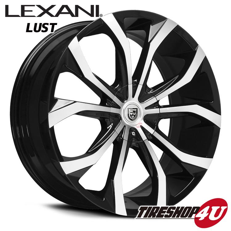 20インチ LEXANI(レクサーニ) LUST(CVX-4) ブラックマシンド/マシンピンストエスティマ エルグランド ティアナ 新品タイヤホイール4本セット価格