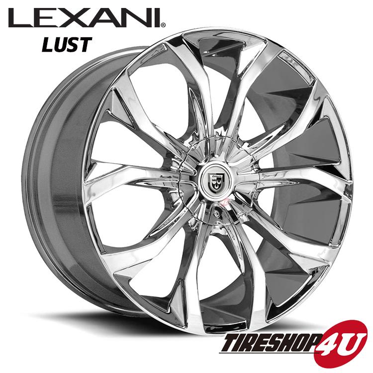 20インチ LEXANI(レクサーニ) LUST(CVX-4) クロームメッキアルファード ヴェルファイア カムリ エスティマ デュアリス スカイライン 新品タイヤホイール4本セット価格