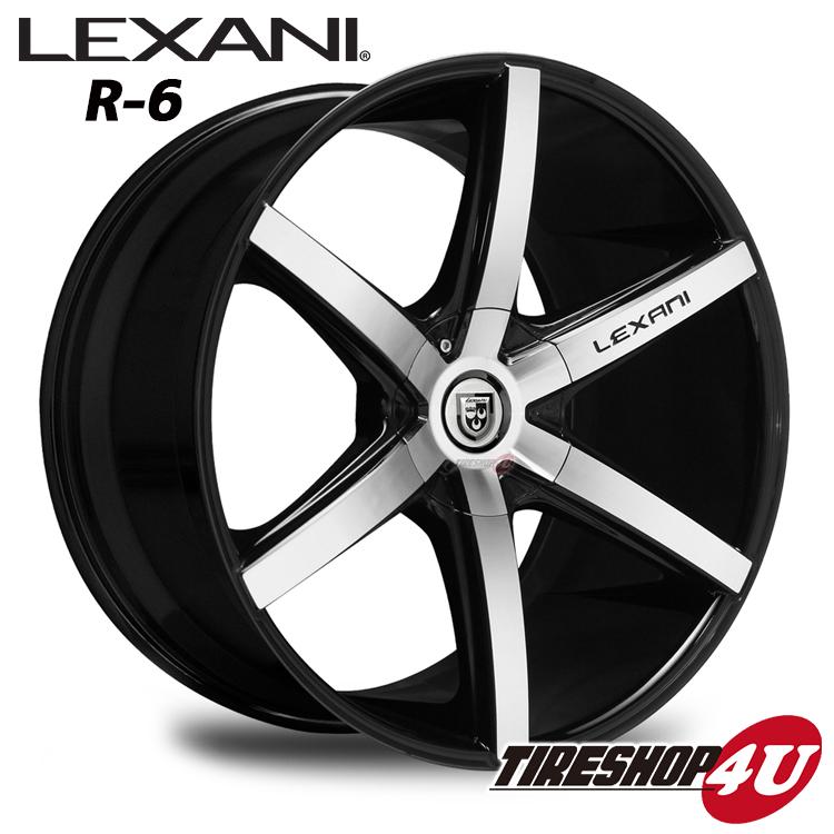 20インチ LEXANI(レクサーニ) R-Six(R-6) 20×8.5J&10.0J ブラックマシンドBMW 5シリーズ E60・E61 ナンカン NS2 新品タイヤホイール4本セット価格 Black Label(ブラックレーベル)