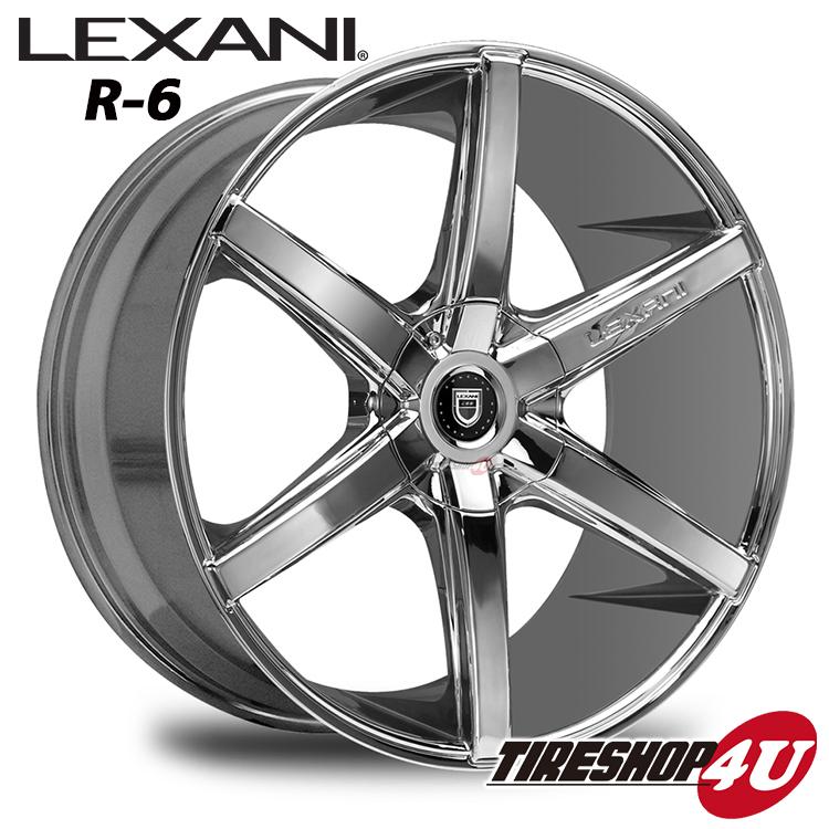 20インチ LEXANI(レクサーニ) R-Six(R-6) 20×8.5J&10.0J クロームメッキレクサス LS460 ナンカン NS2 新品タイヤホイール4本セット価格 Black Label(ブラックレーベル)