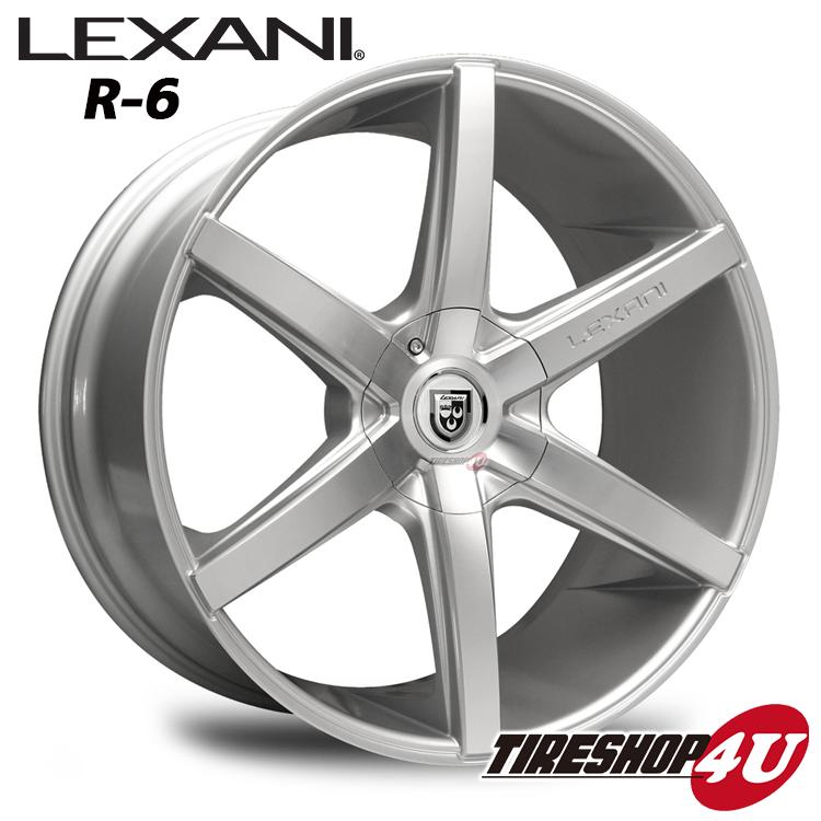 20インチ LEXANI(レクサーニ) R-Six(R-6) 20×8.5J&10.0J シルバーメルセデスベンツ Sクラス W221 ナンカン NS2 新品タイヤホイール4本セット価格 Black Label(ブラックレーベル)