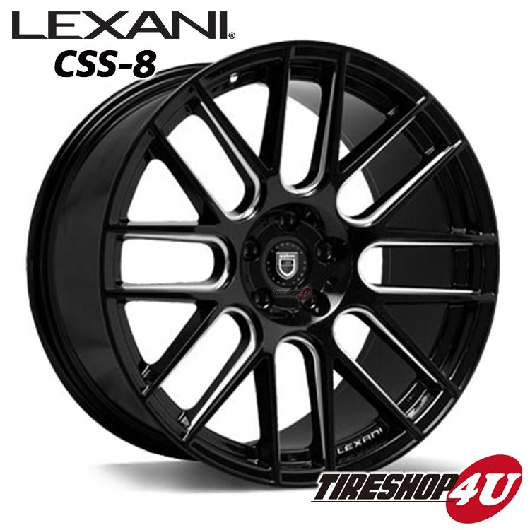 20インチLEXANI CSS-8(CSS-EIGHT) BMW X3(E83、F25) など 20×8.5J 5/120 ET35 GlossBlack CNC245/40R20 ※当社指定輸入タイヤ新品タイヤホイール4本セット価格