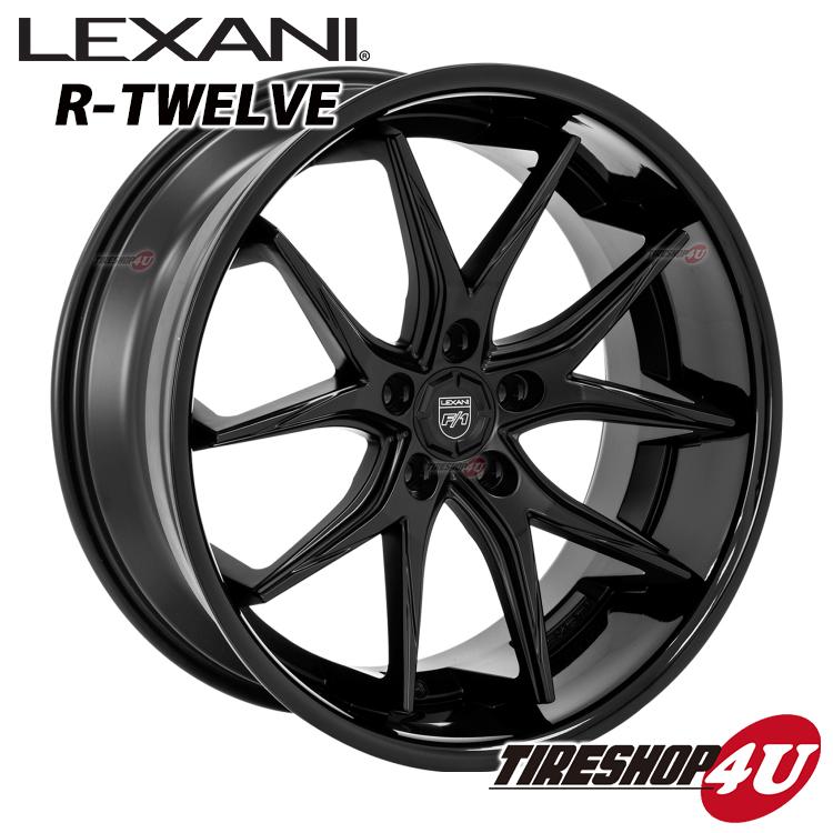 22インチLEXANI R-12 R-TWELVE メルセデスベンツ GLクラス X164 など 22×9.0J 5 112 ET40 GlossBlack CNC265 35R22 当社指定輸入タイヤ新品タイヤホイール4本セット価格