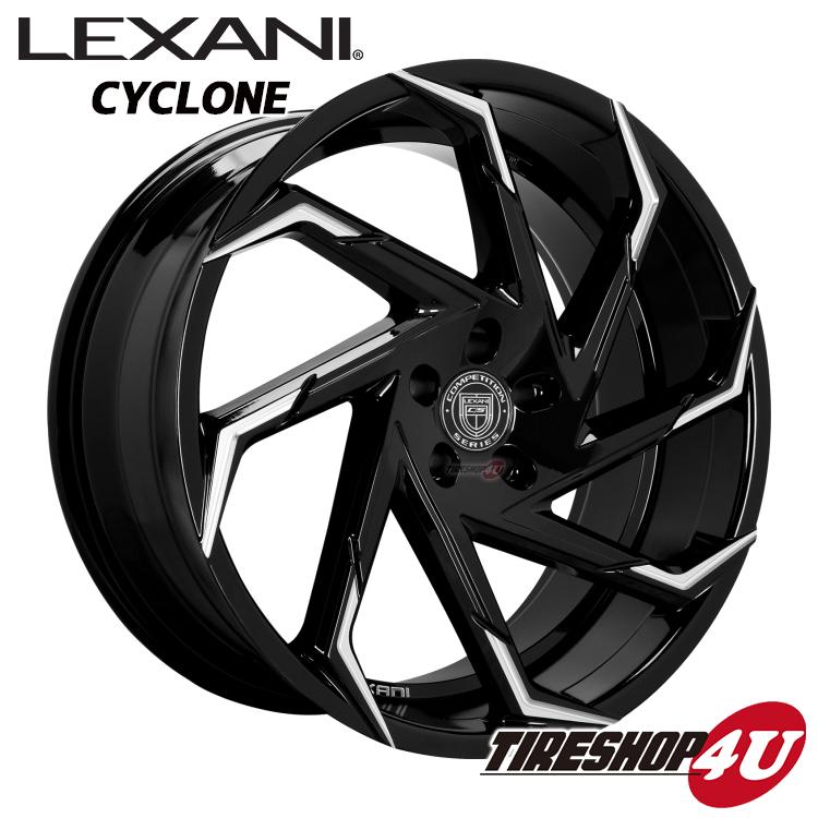 20インチLexani Cyclon(レクサーニ サイクロン) 20×8.5J グロスブラック/マシンチップカイエン、トゥアレグ 特選輸入タイヤタイヤ 265/45R20 新品タイヤホイールセット4本価格