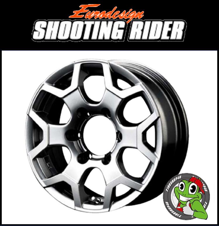 16インチEurodesign SHOOTING RIDER 16×7.0J 6/139.7 +25ハイメタルグレー ユーロデザイン シューティングライダー 新品アルミホイール1本価格 JWL-T規格適合