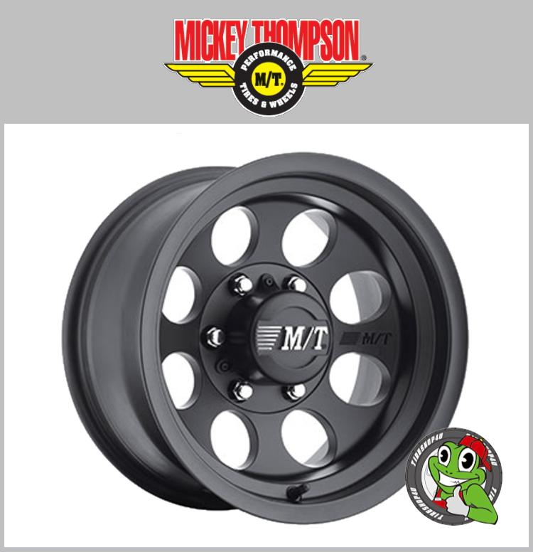16インチ【Mickey Thompson Classic3 Black】16×8.0J 6H-139.7 ET0 HUB:108Φ ブラック【新品ホイール4本セット価格】 ミッキートンプソン FJクルーザー ※リフトアップ、O/F 必要