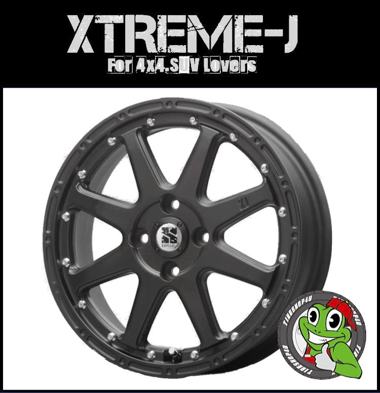 エクストリームJ XTREME-J 1545 15x4.5 4/100+43マットブラック 艶無し黒 軽カー