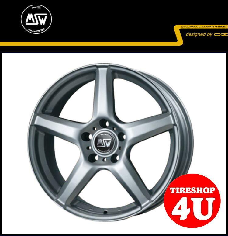 新品アルミホイール1本価格 15インチMSW 14 15×6.5J 5/112 +47 HUB:57.1φ純正ボルト対応フルシルバー MSW designed by OZ VW