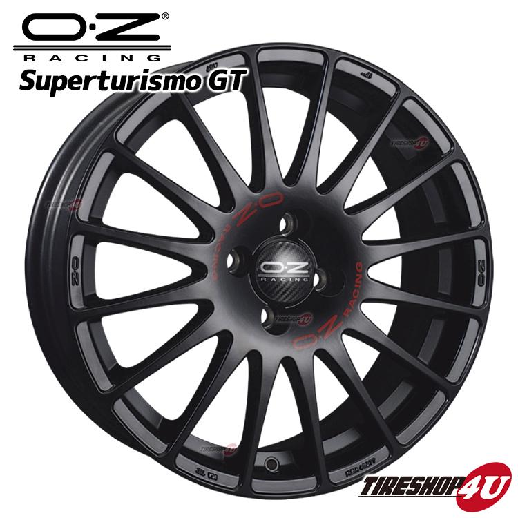 新品アルミホイール1本価格 17インチOZ SUPERTURISMO GT(スーパーツーリズモGT) 17×7.5J 5/112 +50MB(マットブラック) 1775 VW AUDI メルセデスベンツ