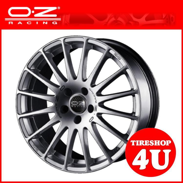 新品アルミホイール1本価格 17インチOZ SUPERTURISMO GT(スーパーツーリズモGT) 17×7.0J 5/100 +38RS(レースシルバー) 1770 VW AUDI 国産車