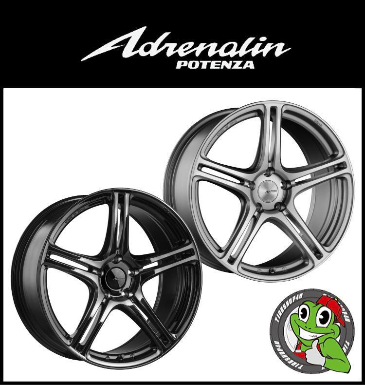 16インチPOTENZA Adrenalin SW005 16×5.5J 4/100 +45FS(ファインシルバー)/GB(グロスブラック) FACE-1/DISK-L 軽量(フローフォーミング)新品アルミホイール1本価格