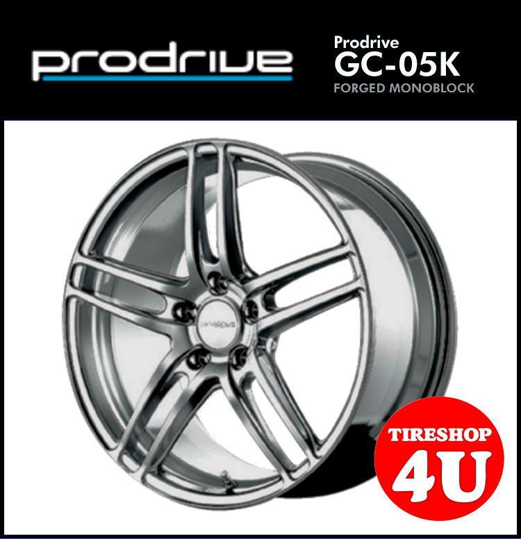 1台分4本購入で送料無料 17インチProdrive GC-05K 17×7.5J 5/112 +50 HBS(ハイパーブリティッシュシルバー) FACE1 鍛造 プロドライブ GC05K 新品アルミホイール1本価格 VW/AUDI 57.1Φハブリング・取付ボルト付属