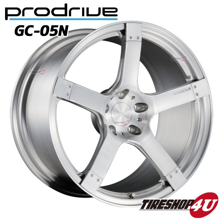 1台分4本購入で送料無料 代引き不可 20インチProdrive GC-05N 20×8.5J 5/114.3 +40 BF(ブラッシュドフィニッシュ) FACE 1/DISK L3 鍛造 プロドライブ GC05N 新品アルミホイール1本価格
