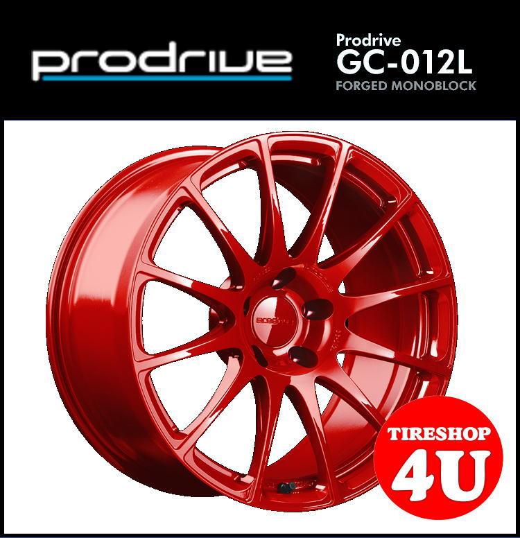 1台分4本購入で送料無料 代引き不可 18インチProdrive GC-012L 18×9.5J 5/114.3 +15 BR(ブリティッシュレッド) FACE 2/DISK D3 鍛造 プロドライブ GC012K 新品アルミホイール1本価格 国産車用