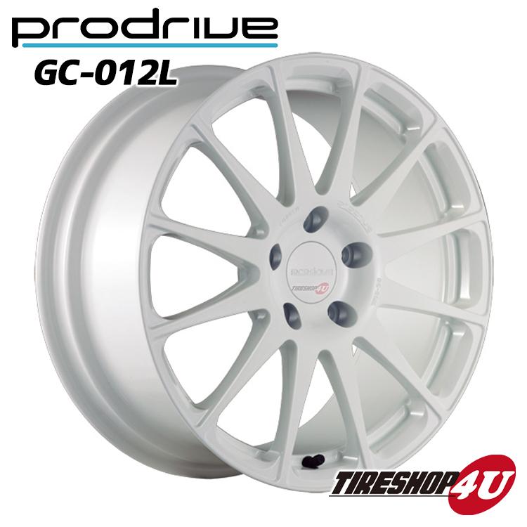 1台分4本購入で送料無料 代引き不可 18インチProdrive GC-012L 18×7.5J 4/98 +38 HUB:58ΦBW(ブリティッシュホワイト) FACE 1/DISK L1 鍛造 プロドライブ GC012K 新品アルミホイール1本価格 FIAT/アルファロメオ 取付ボルト付属