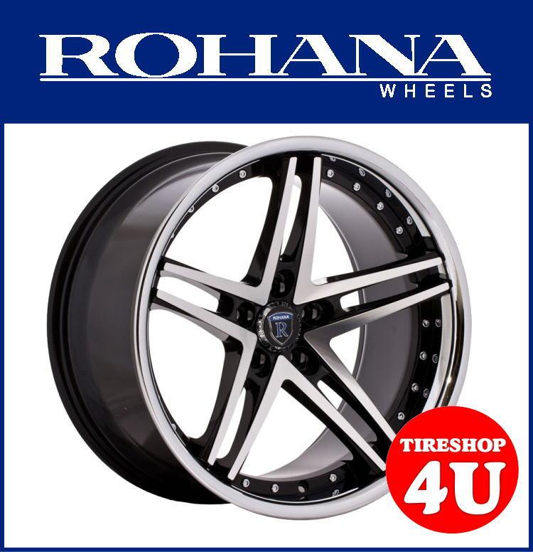 特価20インチROHANA WHEELS RC5(ロハナ) メルセデスベンツ Eクラス(W212/C207) 20×9.0 & 10.5J マシンドブラック当社指定輸入タイヤ 245/30R20&255/30R20 新品タイヤホイール4本セット価格 JWL規格適合品 コンケーブ