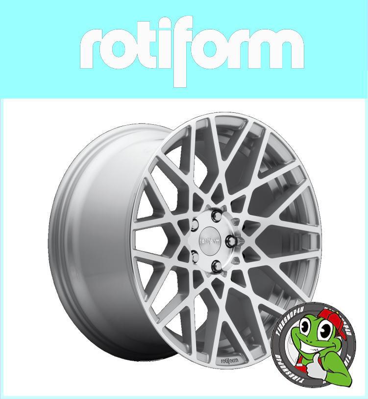 19インチルノー メガーヌ Rotiform BLQ R110 19×8.5J ET45 Machine Silver当社指定輸入タイヤ or NANKANG 225/35R19 新品タイヤホイールセット4本価格 JWL規格非適合品