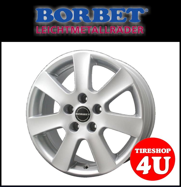 15インチ 新品 BORBET ボルベット タイプCA 1565 15x6.5 5/112 INSET40 AUDI アウディ A4 A6 1台分で送料無料