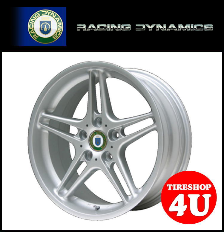 18インチ 新品 RACING DYNAMICS レーシングダイナミクス RD3 ブリリアントシルバー 1875 18x7.5 4/100 INSET48 BMW MINI 1台分で送料無料