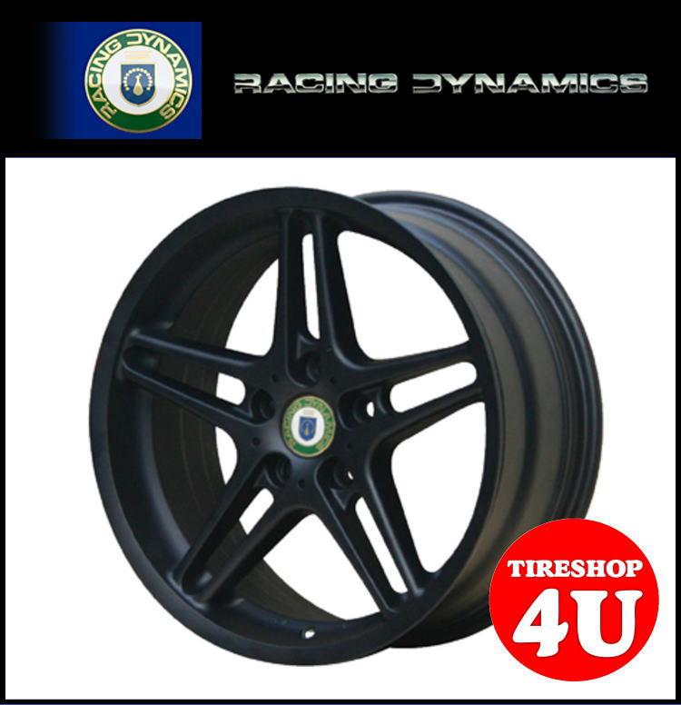16インチ 新品 RACING DYNAMICS レーシングダイナミクス RD3 マットブラック 1670 16x7.0 5/120 INSET31 BMW E90 E46 JWL 1台分で送料無料