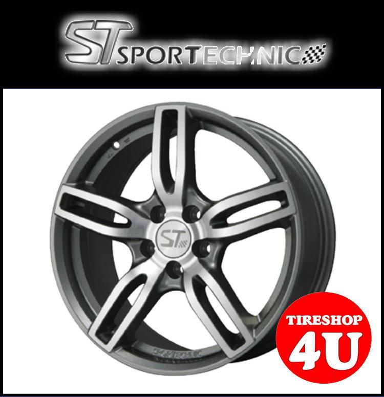 新品アルミホイール1本価格 16インチSPORTTECHNIC MONO5 VISION 16×7.0J 5/100 +34 HUB:57.1φ13R座 ガンメタポリッシュ スポーツテクニック モノ5ヴィジョン VW AUDI/アウディ