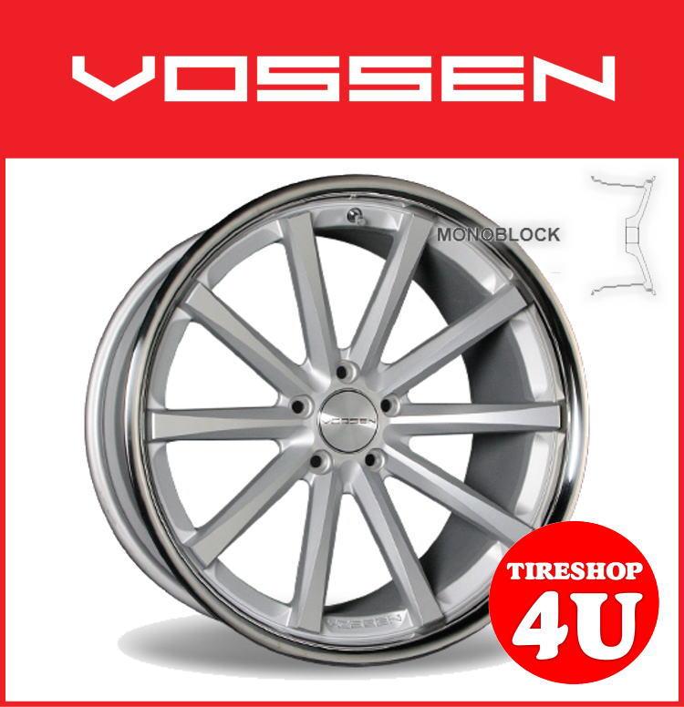 20インチVOSSEN ヴォッセ VVC CV1 マットシルバーw/ステンレスリップスカイラインクーペ V35 V36 フェアレディZ Z33 Z34 タイヤ付4本SET 逆反り