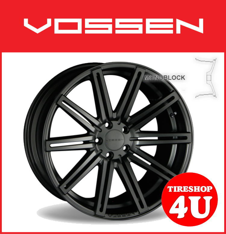 22インチホイール単品VOSSEN VVS CV4 22×10.5J 5/114.3 +42 マットグラファイト逆反り コンケイブ ヴォッセ 新品アルミホイール1本価格