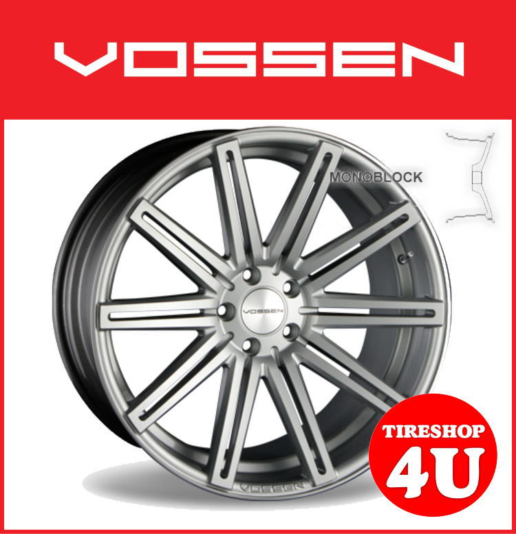 22インチホイール単品VOSSEN VVS CV4 22×9.0J 5/112 +32 シルバー逆反り コンケイブ ヴォッセ 新品アルミホイール1本価格