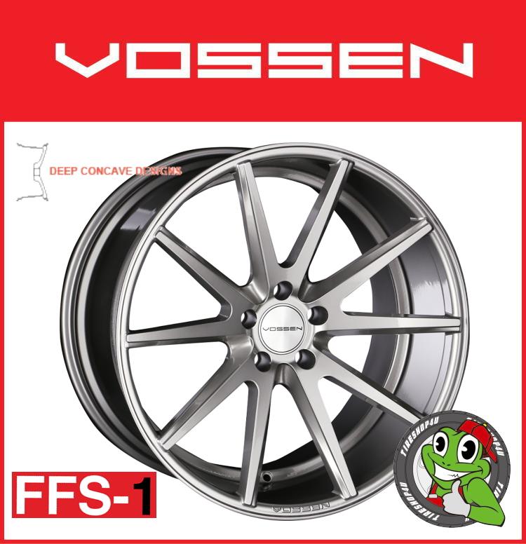19インチホイール単品VOSSEN VFS-1 19×8.5J 5/112 +32 チタニウムシルバー(TSL)フローフォーミング製法 FLAT FACE 逆反り コンケイブ コンケーブ ヴォッセ 新品アルミホイール1本価格