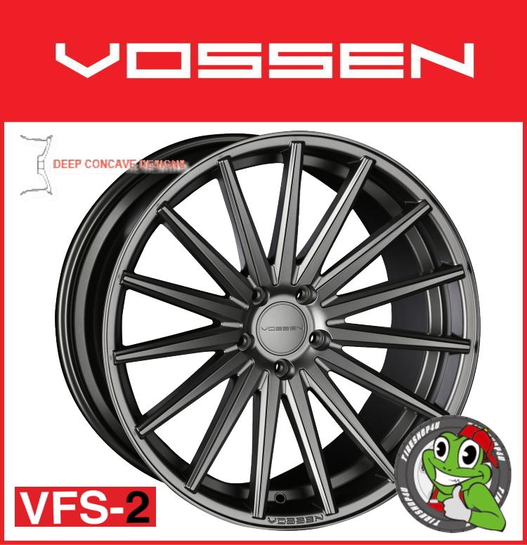 21インチホイール単品VOSSEN VFS-2 21×9.0J 5/120 +30 マットグラファイト(MGP)フローフォーミング製法 FLAT FACE 逆反り コンケイブ コンケーブ ヴォッセ 新品アルミホイール1本価格