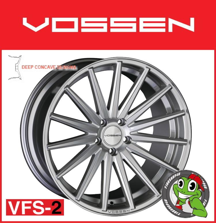 19インチホイール単品VOSSEN VFS-2 19×9.5J 5/114.3 +28 チタニウムシルバー(TSL)フローフォーミング製法 MID FACE 逆反り コンケイブ コンケーブ ヴォッセ 新品アルミホイール1本価格