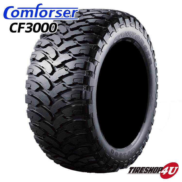 2019年製 送料無料 新品 タイヤ Comforser CF3000 37X13.50R22 単品 サマータイヤ マッドタイヤ M/T ブラックレター オフロードタイヤ MT コンフォーサー 37x13.5R22 37x13.50-22 123Q 10PR